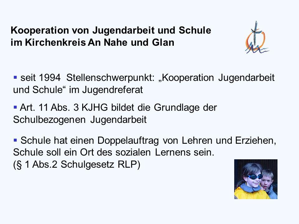 seit 1994 Stellenschwerpunkt: Kooperation Jugendarbeit und Schule im Jugendreferat Art.