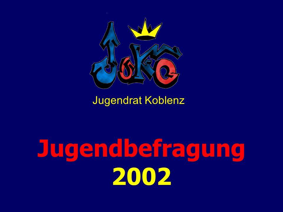 Jugendbefragung 2002 Jugendrat Koblenz