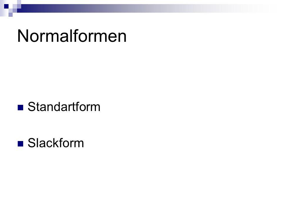 Standartform Slackform