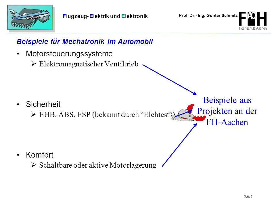 Prof. Dr.- Ing. Günter Schmitz Flugzeug- Elektrik und Elektronik Seite 8 Beispiele für Mechatronik im Automobil Motorsteuerungssysteme Elektromagnetis