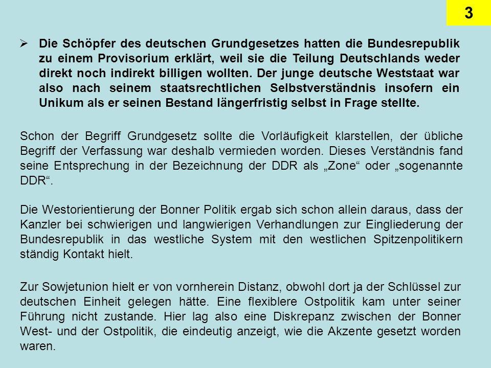 4 Die Westintegration bescherte der Bundesrepublik nicht nur nach und nach die Gleichberechtigung mit den Partnerländern, sondern löste sogar auch ein territoriales Problem im Westen: das des Saargebietes.