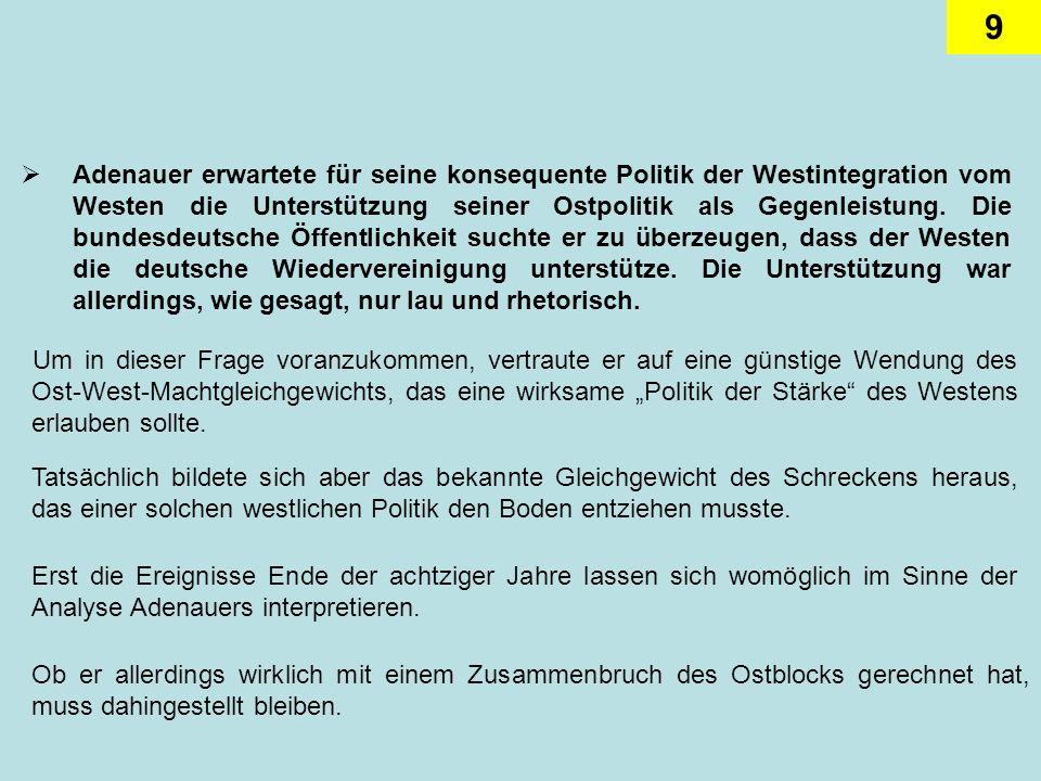 10 Damit wurde der Alleinvertretungsanspruch der Bundesrepublik in eine rechtlich- diplomatische Formel umgesetzt, nach der die Bundesrepublik automatisch die diplomatischen Beziehungen zu solchen Regierungen abbrach, die das DDR-Regime anerkannten.