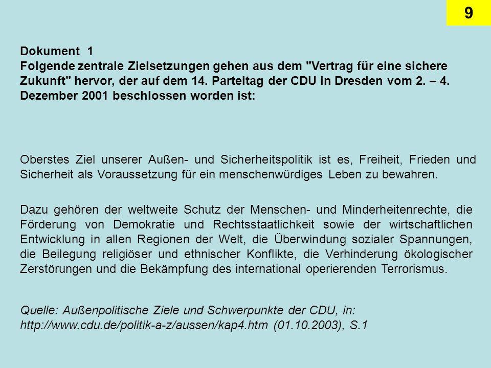 20 Dokument 4 Aus dem Zwischenbericht der Grundsatzprogrammkommission der SPD: Wegmarken für ein neues Grundsatzprogramm Die Zukunft Deutschlands hat nur einen Namen: Europa.