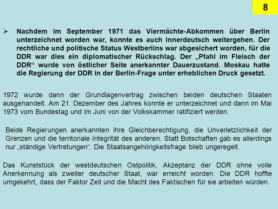 19 Ein Sonderfall der innerdeutschen Beziehungen war der Freikauf politischer Gefangener aus der DDR.