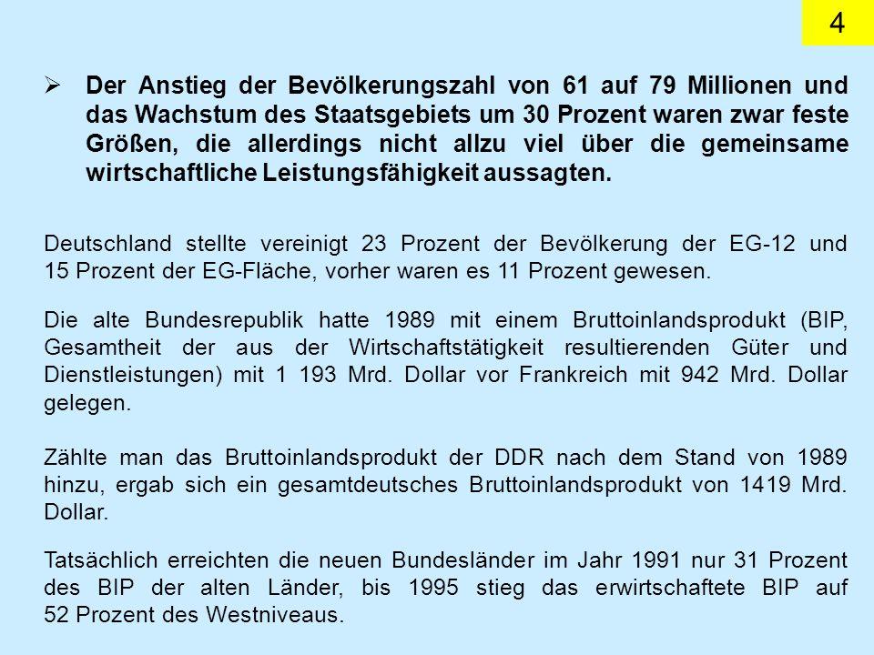 5 Auch bei der Exportleistung war Gesamtdeutschland voreilig optimistisch eine erhebliche Steigerung zugerechnet worden.
