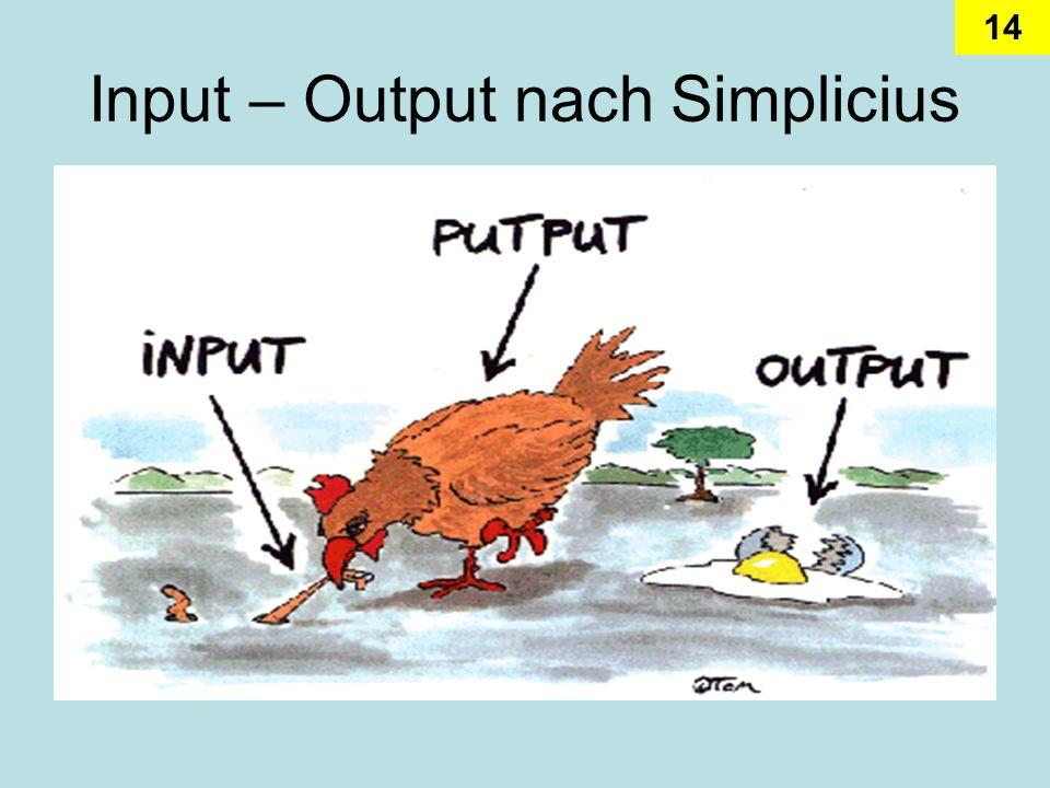 14 Input – Output nach Simplicius
