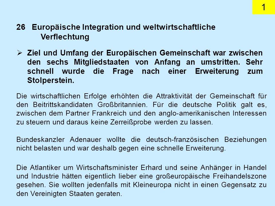 1 Ziel und Umfang der Europäischen Gemeinschaft war zwischen den sechs Mitgliedstaaten von Anfang an umstritten.