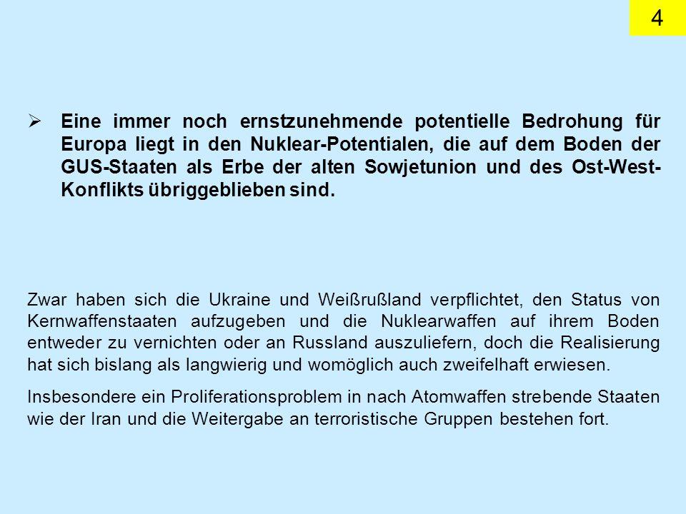 25 Deutschland unterstützte diesen Kurs, die WEU/ESVP aufzu- werten, nachhaltig.
