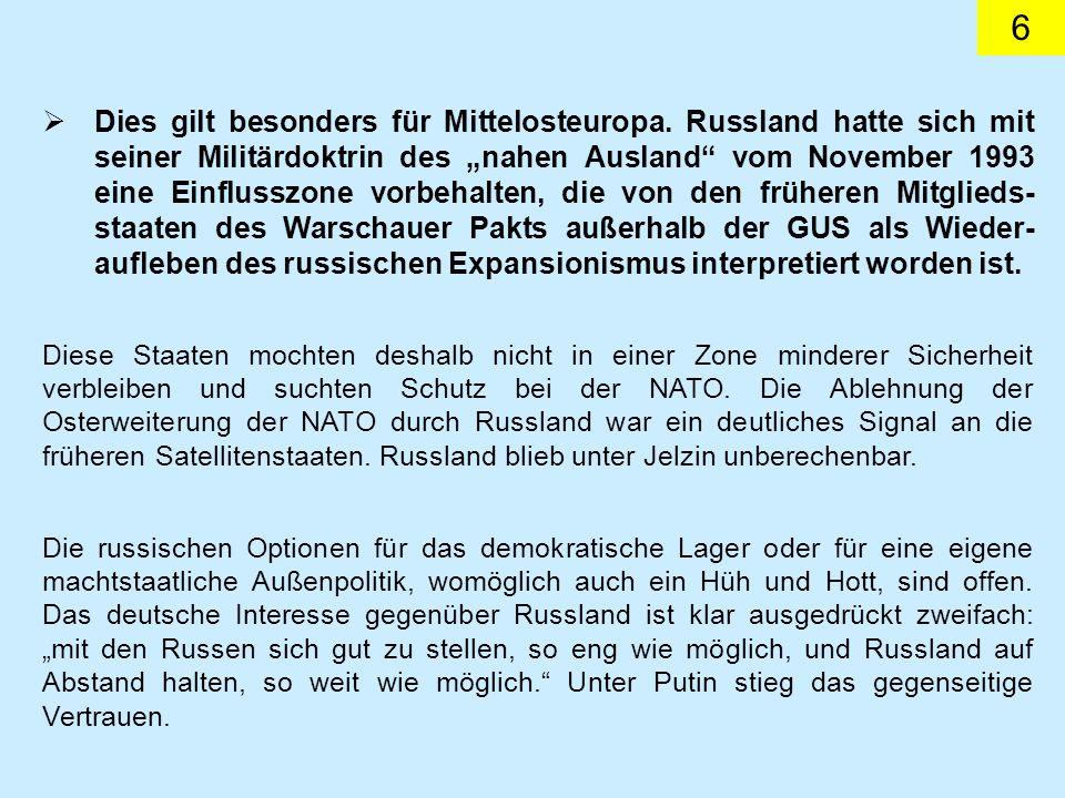 17 KSZE/OSZE Die alte Rolle war die eines Forums für Ost und West gewesen.