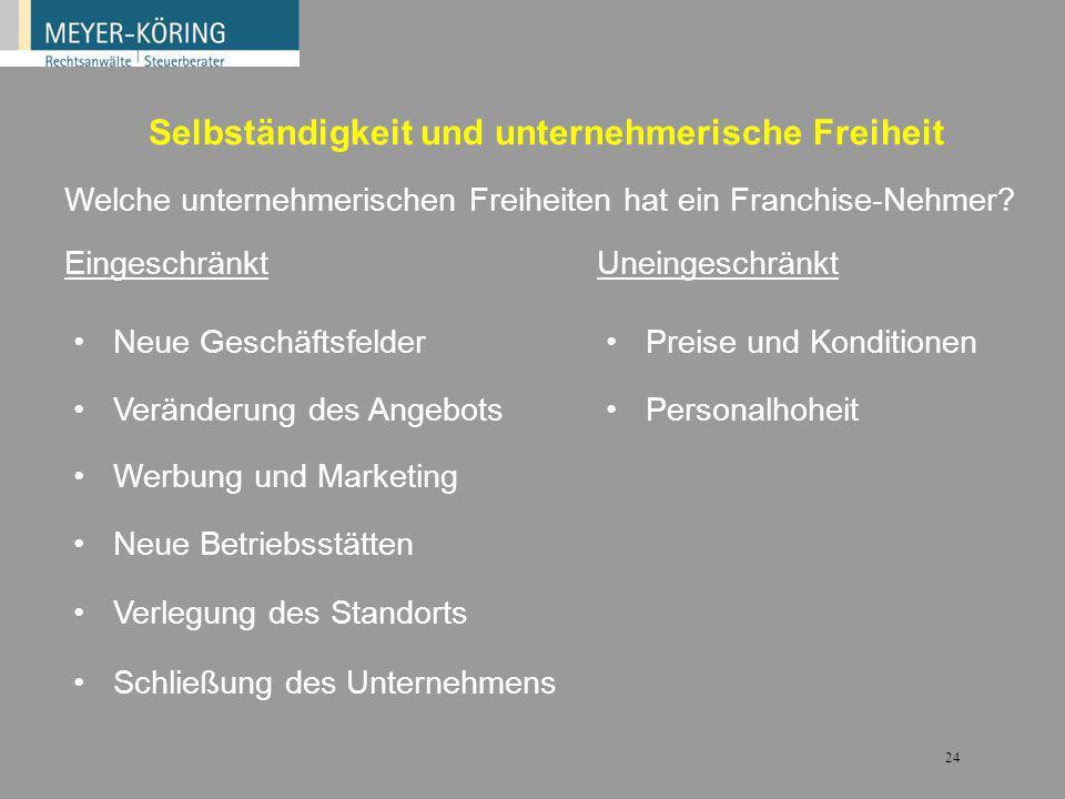 23 Master-Franchising und Area Development