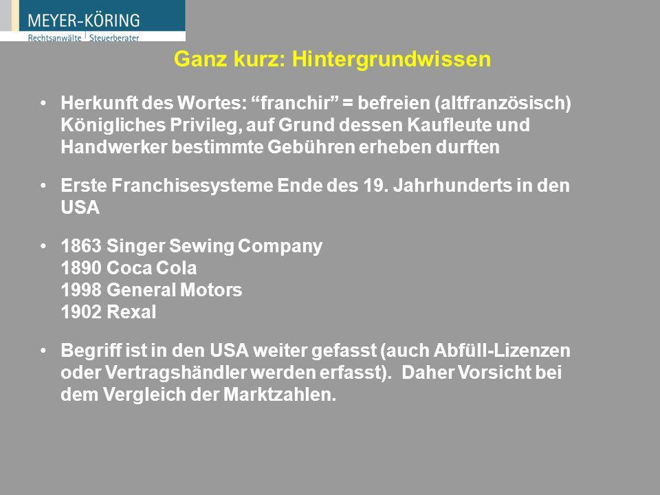 4 Wie entsteht ein Franchise-System? Erfolgreiches Unternehmen an Einzelstandort Filialist Hersteller/ Importeur Aufbau von Standorten mit fremdem Kap