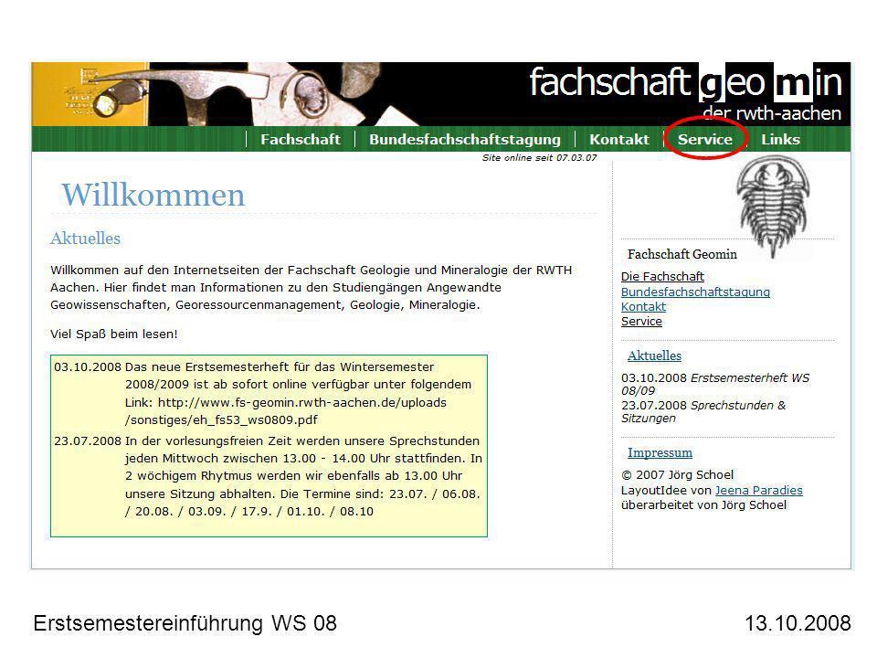 Erstsemestereinführung WS 0813.10.2008 Naturdenkmal