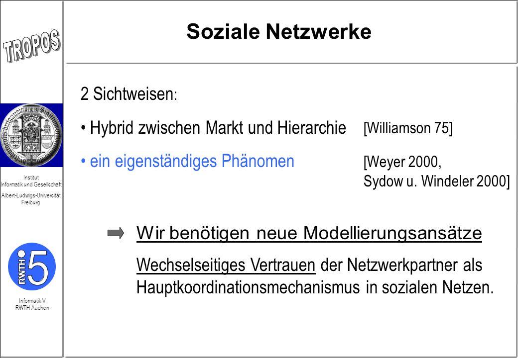 Informatik V RWTH Aachen Institut Informatik und Gesellschaft Albert-Ludwigs-Universität Freiburg Erwartungen + Realität Welche Perspektiven impliziert das TCD-Modell?...