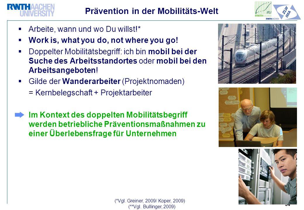34 Prävention in der Mobilitäts-Welt Arbeite, wann und wo Du willst!* Work is, what you do, not where you go.