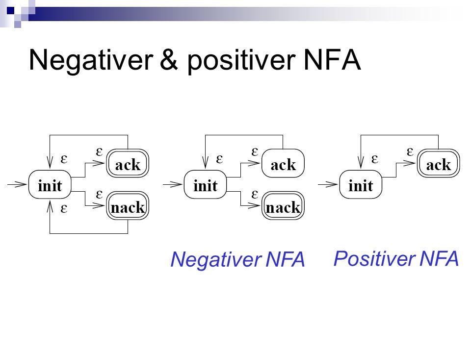 Negativer & positiver NFA Negativer NFA Positiver NFA