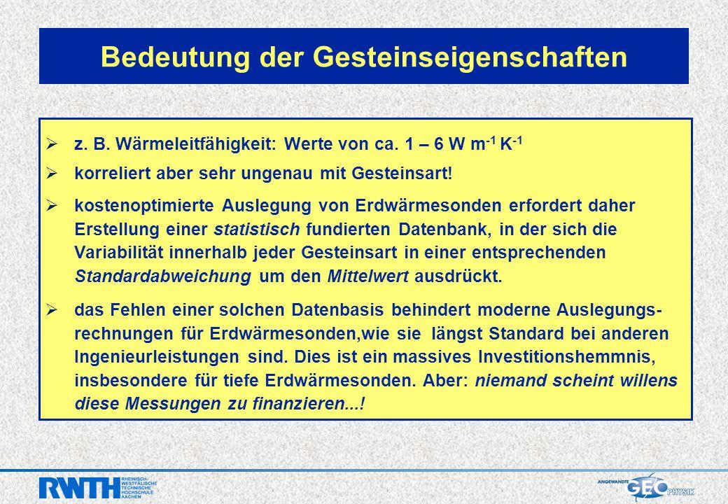 z. B. Wärmeleitfähigkeit: Werte von ca.