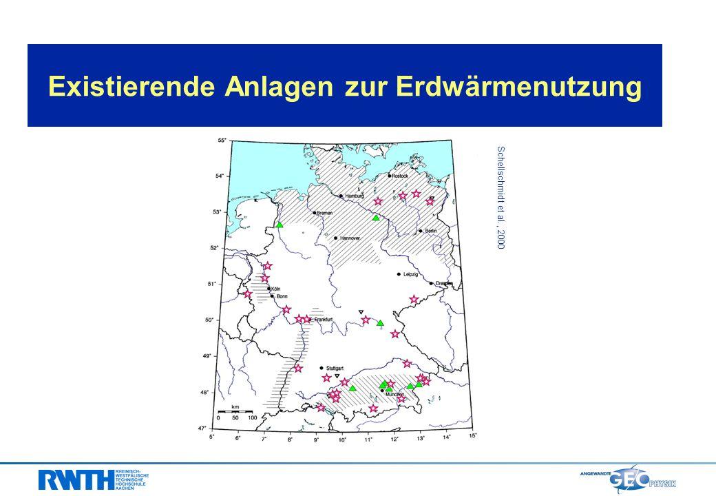 Temperaturverteilung im Untergrund Deutschlands Nutzungsmöglichkeiten von Erdwärme und weltweite geothermische Strom- und Wärmeerzeugung im Jahr 2000 Erdwärmenutzung in Deutschland: Konzepte und gegenwärtiger Stand technisches Potential für die Nutzung von Erdwärme in Deutschland und Auswirkung der Erdwärmenutzung auf den CO 2 - Ausstoß in Deutschland Ausblick und Zusammenfassung Inhalt