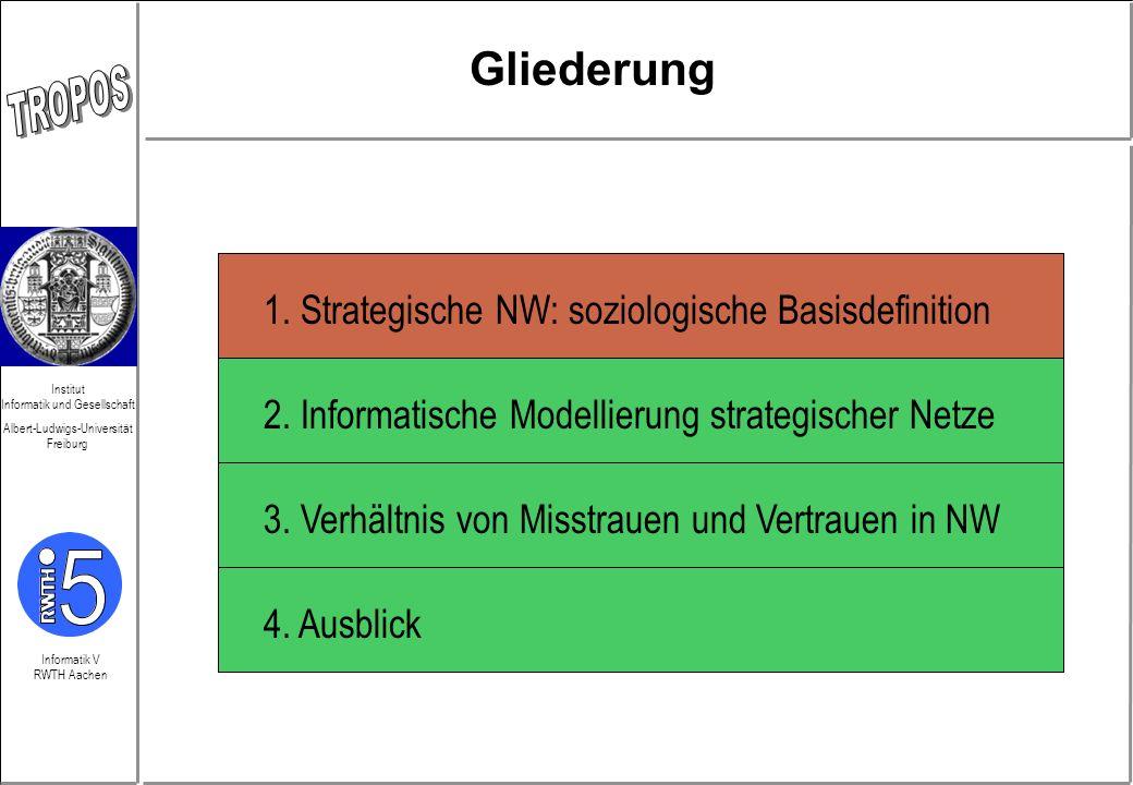 Informatik V RWTH Aachen Institut Informatik und Gesellschaft Albert-Ludwigs-Universität Freiburg 1. Strategische NW: soziologische Basisdefinition 2.