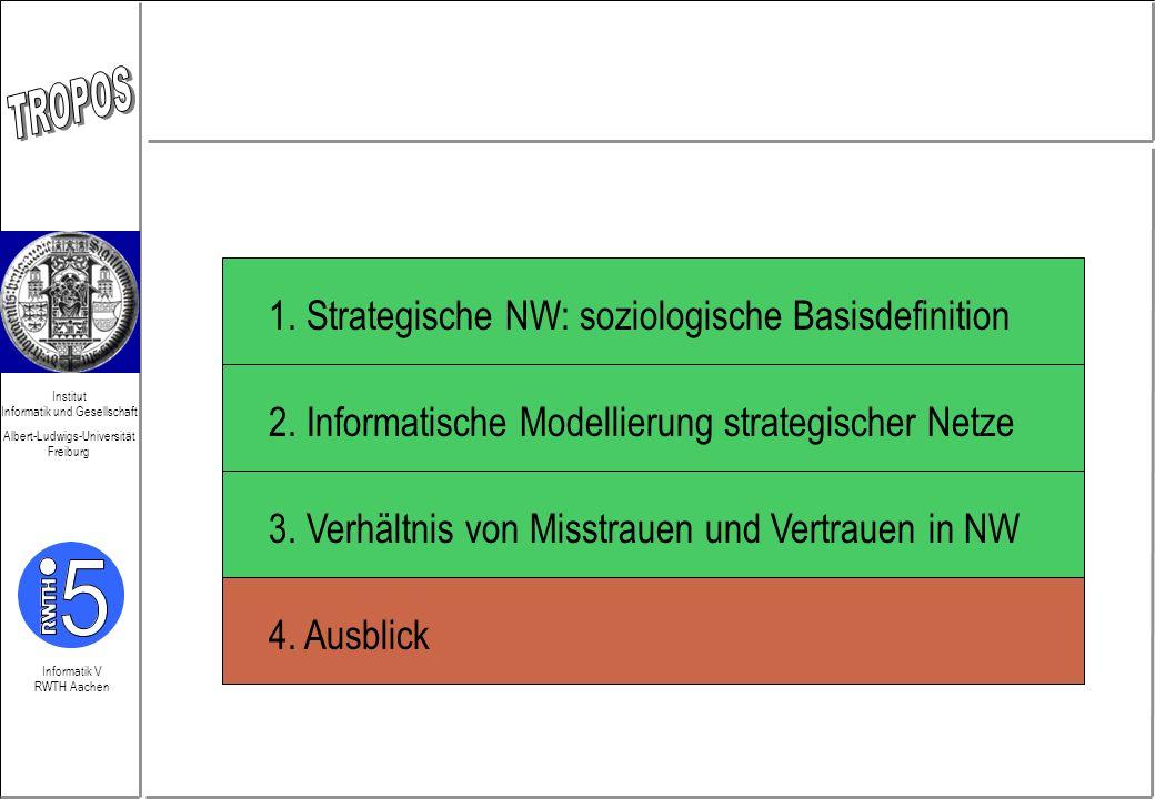 Informatik V RWTH Aachen Institut Informatik und Gesellschaft Albert-Ludwigs-Universität Freiburg 2. Informatische Modellierung strategischer Netze 4.