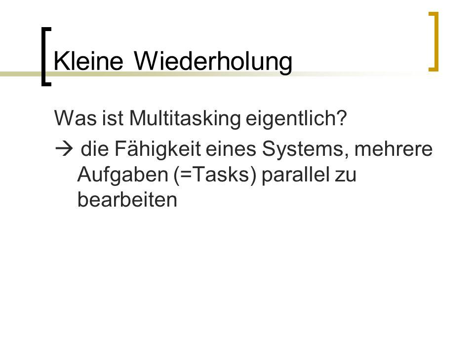 Das non-preemptive Multitasking Kleine Demonstration: http://www.cpp- tutor.de/mfc/mfc/kap1/mtask1.htm