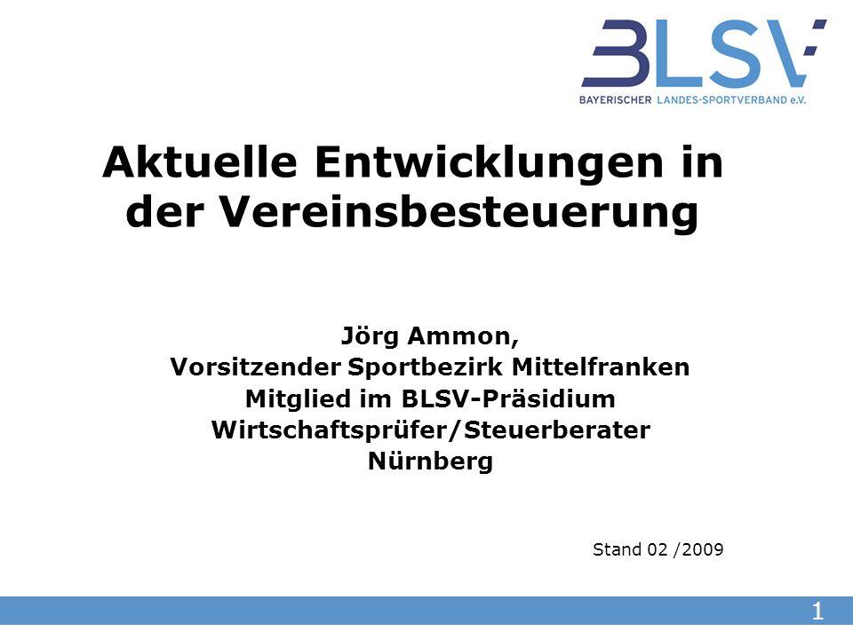 2 Besprechungspunkte: 1.Grundlagen der Vereinsbesteuerung 2.