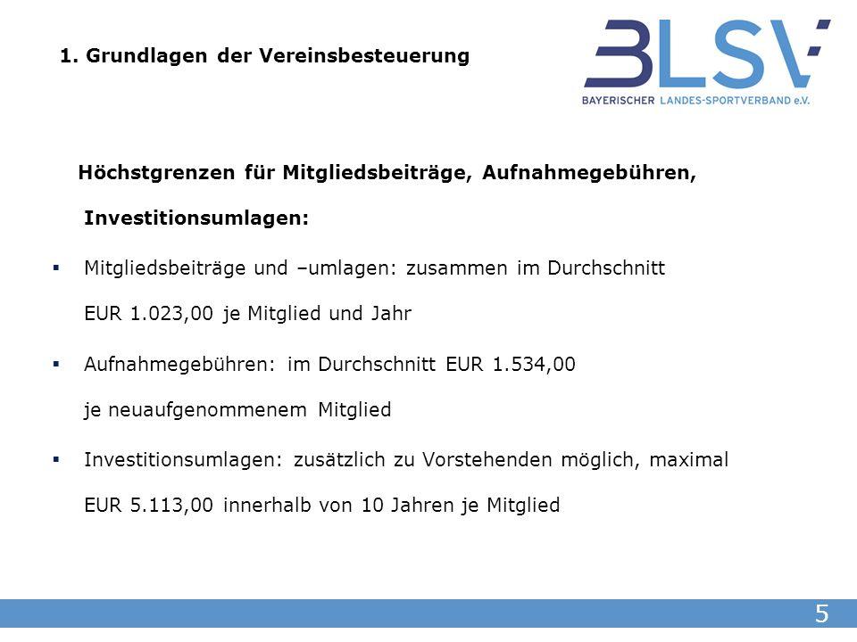 6 2.Die 4 Vereinsbereiche und deren Steuerpflicht Ideeller Bereich: Z.B.