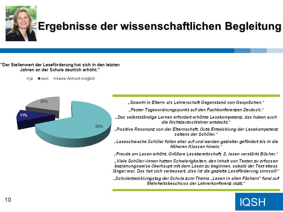 IQSH Ergebnisse der wissenschaftlichen Begleitung 10