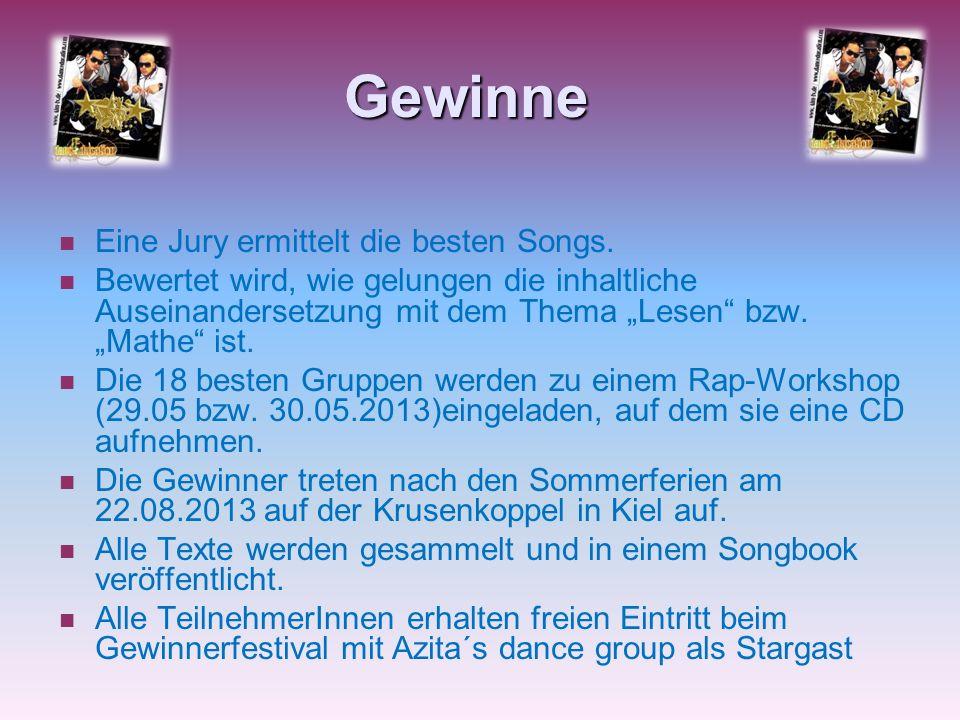 Gewinne Eine Jury ermittelt die besten Songs.