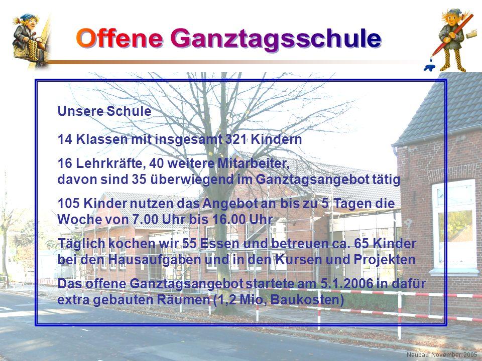 Boy-Lornsen-Grundschule Brunsbüttel Unsere Schule 14 Klassen mit insgesamt 321 Kindern 16 Lehrkräfte, 40 weitere Mitarbeiter, davon sind 35 überwiegen