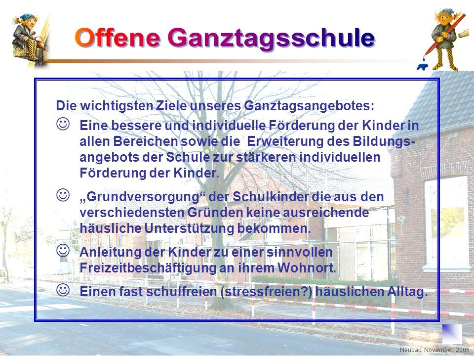Boy-Lornsen-Grundschule Brunsbüttel Eine bessere und individuelle Förderung der Kinder in allen Bereichen sowie die Erweiterung des Bildungs- angebots