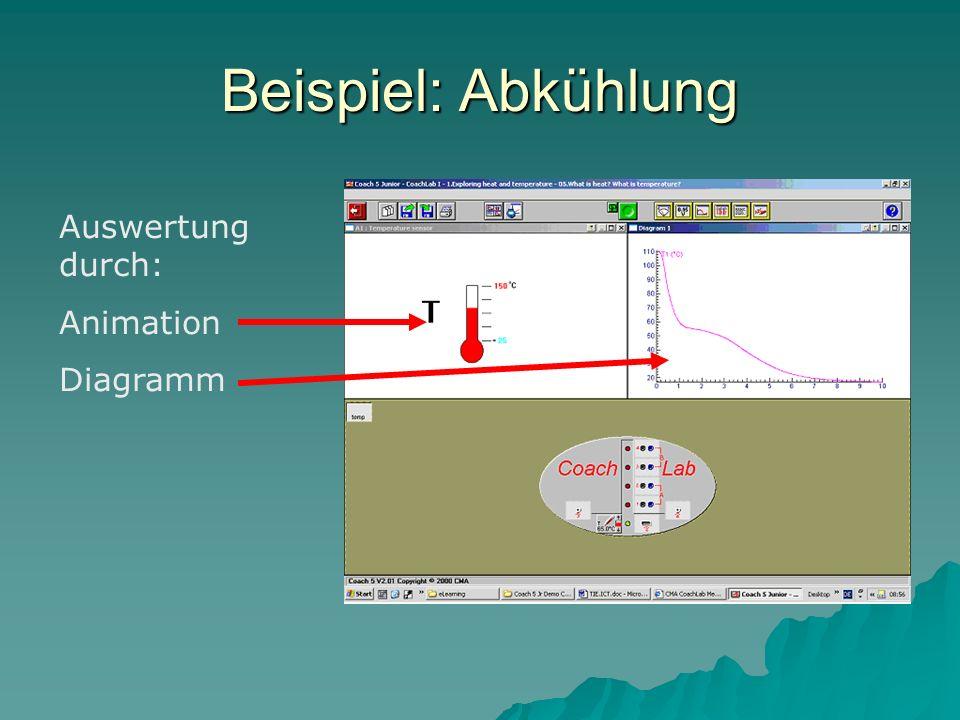 Beispiel: Abkühlung Auswertung durch: Animation Diagramm