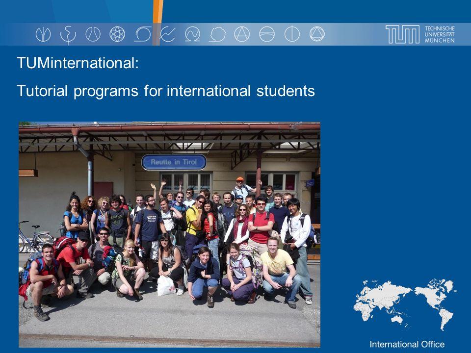 TUMinternational: Tutorial programs for international students