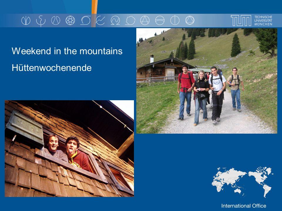 Weekend in the mountains Hüttenwochenende