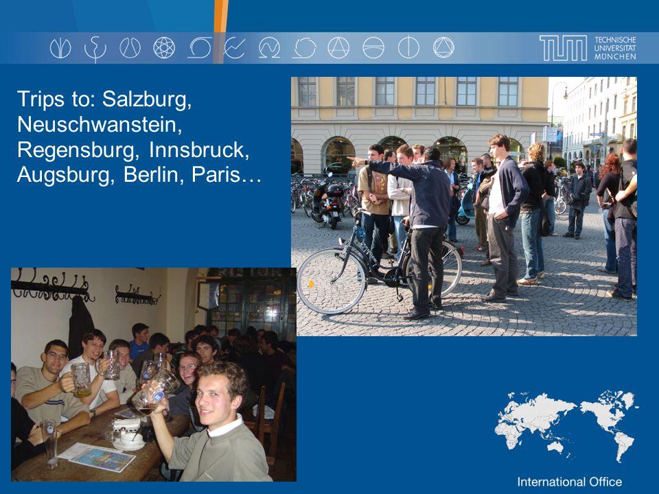 Trips to: Salzburg, Neuschwanstein, Regensburg, Innsbruck, Augsburg, Berlin, Paris…