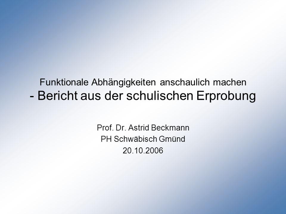 Erfahrungen mit Experimenten im Unterricht in verschiedenen 8., 9.