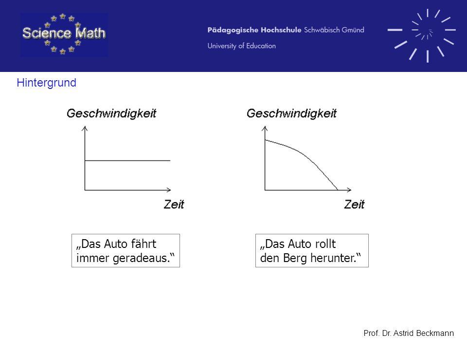 Prof. Dr. Astrid Beckmann Station 4: Experiment Druck