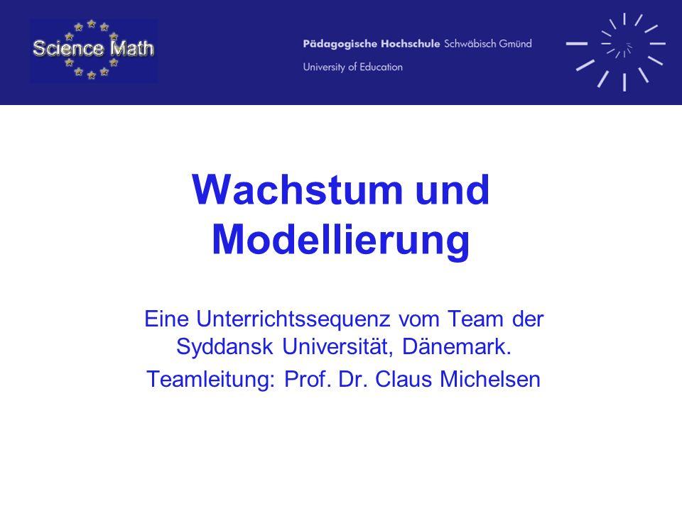 Wachstum und Modellierung Eine Unterrichtssequenz vom Team der Syddansk Universität, Dänemark. Teamleitung: Prof. Dr. Claus Michelsen