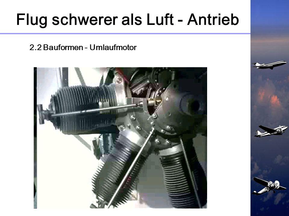Flug schwerer als Luft - Antrieb 2.2 Bauformen Mehrreihen - Sternmotor