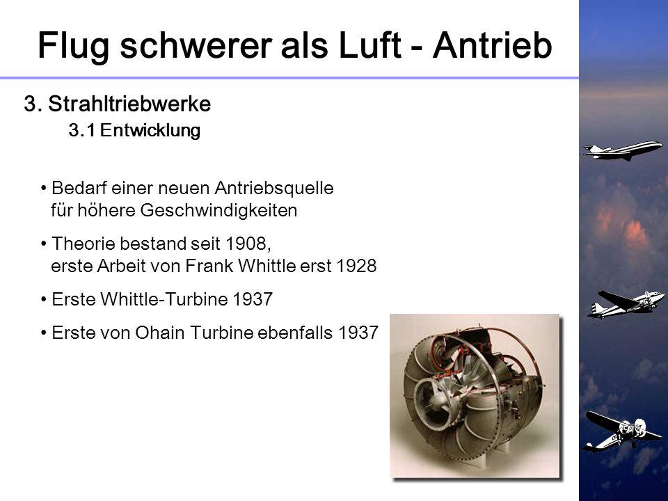 Flug schwerer als Luft - Antrieb 2. Kolbenmotoren 2.4 Grenzen Rekordflug He100 (März 1936) 746 Km / h Rekordflug Me 109 R (Juni 1939) 755,138 Km / h