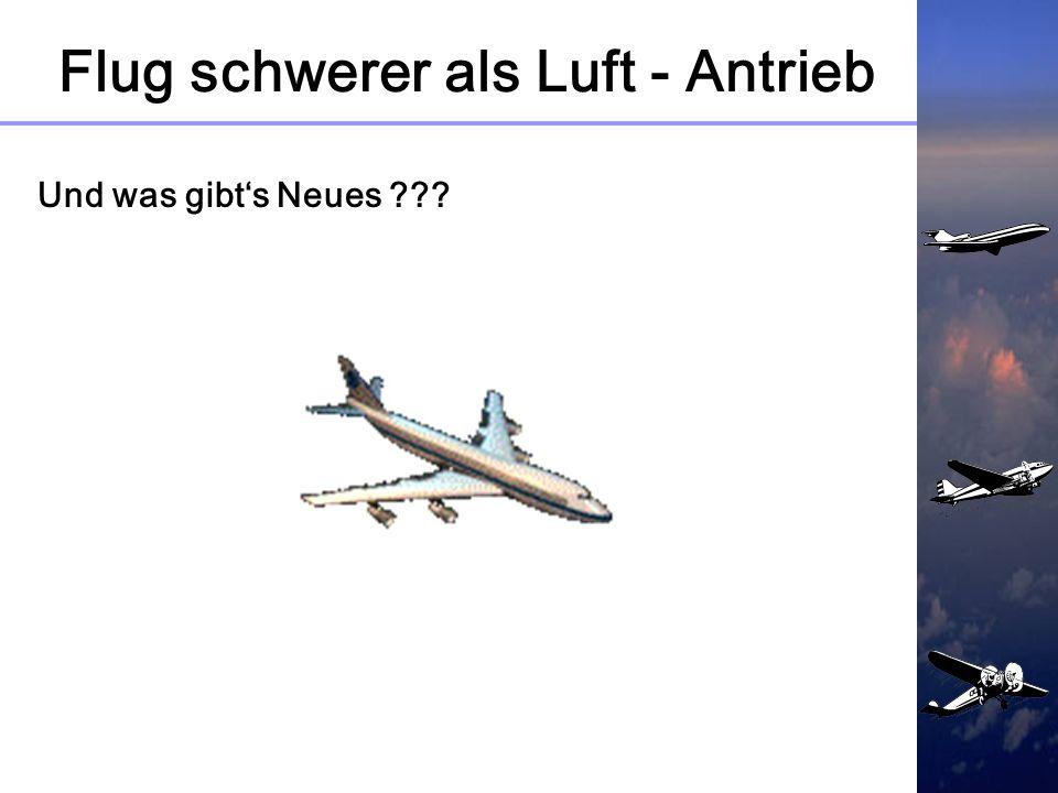 Flug schwerer als Luft - Antrieb 4.1 Aufbau