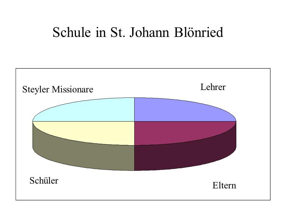 Schule in St. Johann Blönried Steyler Missionare Lehrer Eltern Schüler