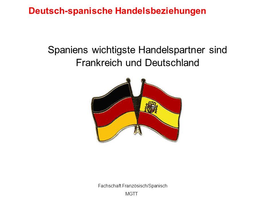 12 Spaniens wichtigste Handelspartner sind Frankreich und Deutschland Fachschaft Französisch/Spanisch MGTT Deutsch-spanische Handelsbeziehungen