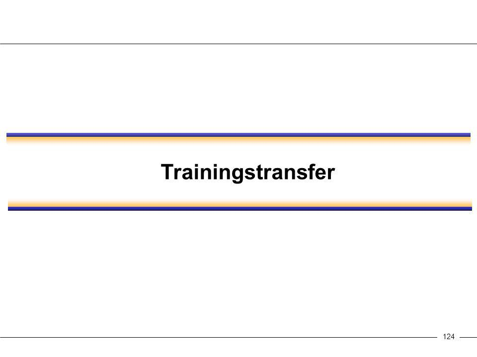 124 Trainingstransfer