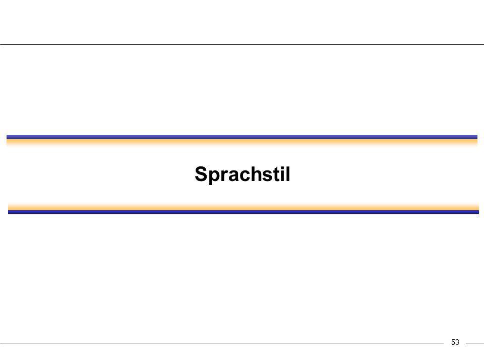 53 Sprachstil