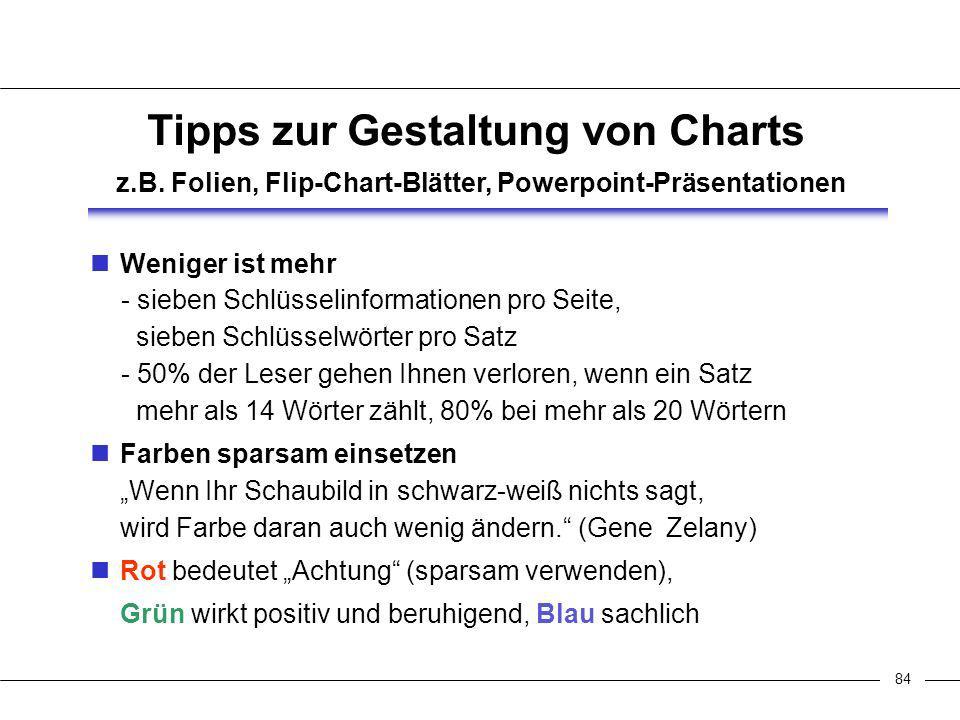 84 Tipps zur Gestaltung von Charts z.B.
