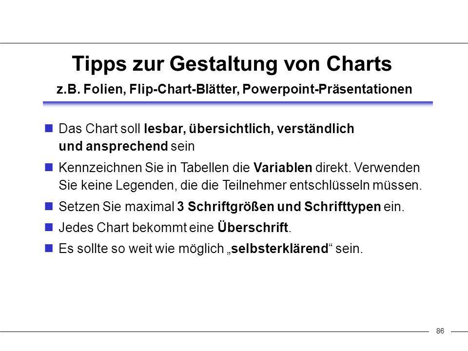 86 Tipps zur Gestaltung von Charts z.B.