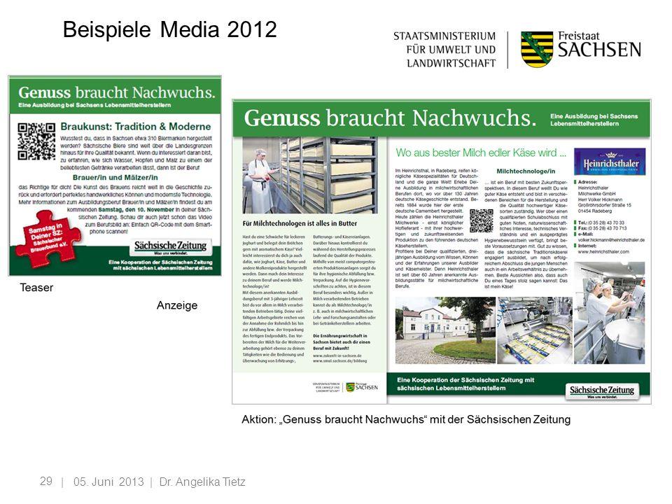 29 | 05. Juni 2013 | Dr. Angelika Tietz Beispiele Media 2012