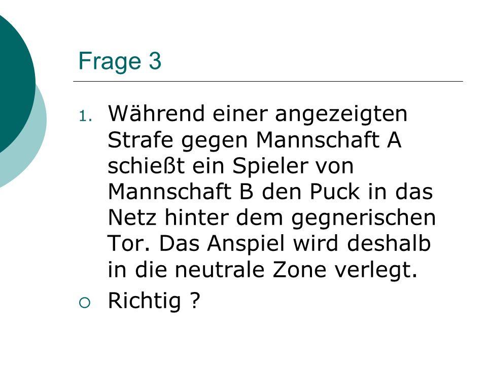 Frage 23 Welche 5 Kriterien müssen erfüllt sein, damit wegen eines Beinstellens anstelle einer kleinen Strafe ein Strafschuss verhängt wird?