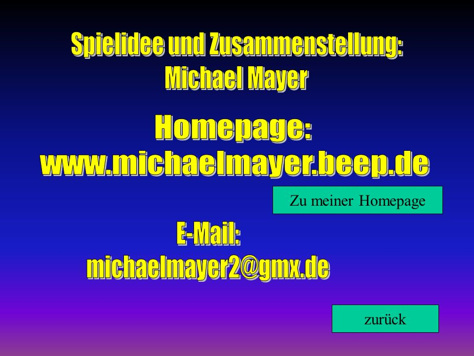 Zu meiner Homepage zurück