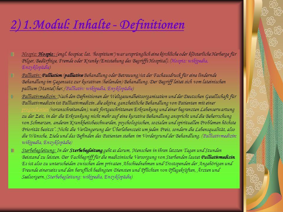 2) 1.Modul – Inhalte: 2.Tag Übersicht: Inhaltlicher Schwerpunkt für den 19.März: